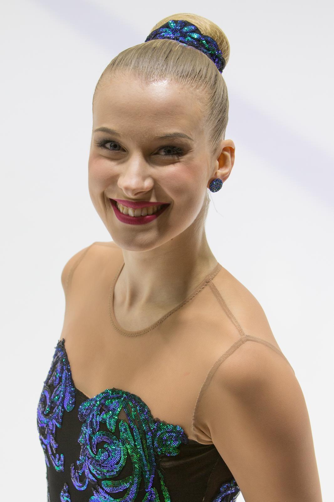 Marigold IceUnityn kapteeni Camilla Sundgren Splash-vapaaohjelman puvussaan.
