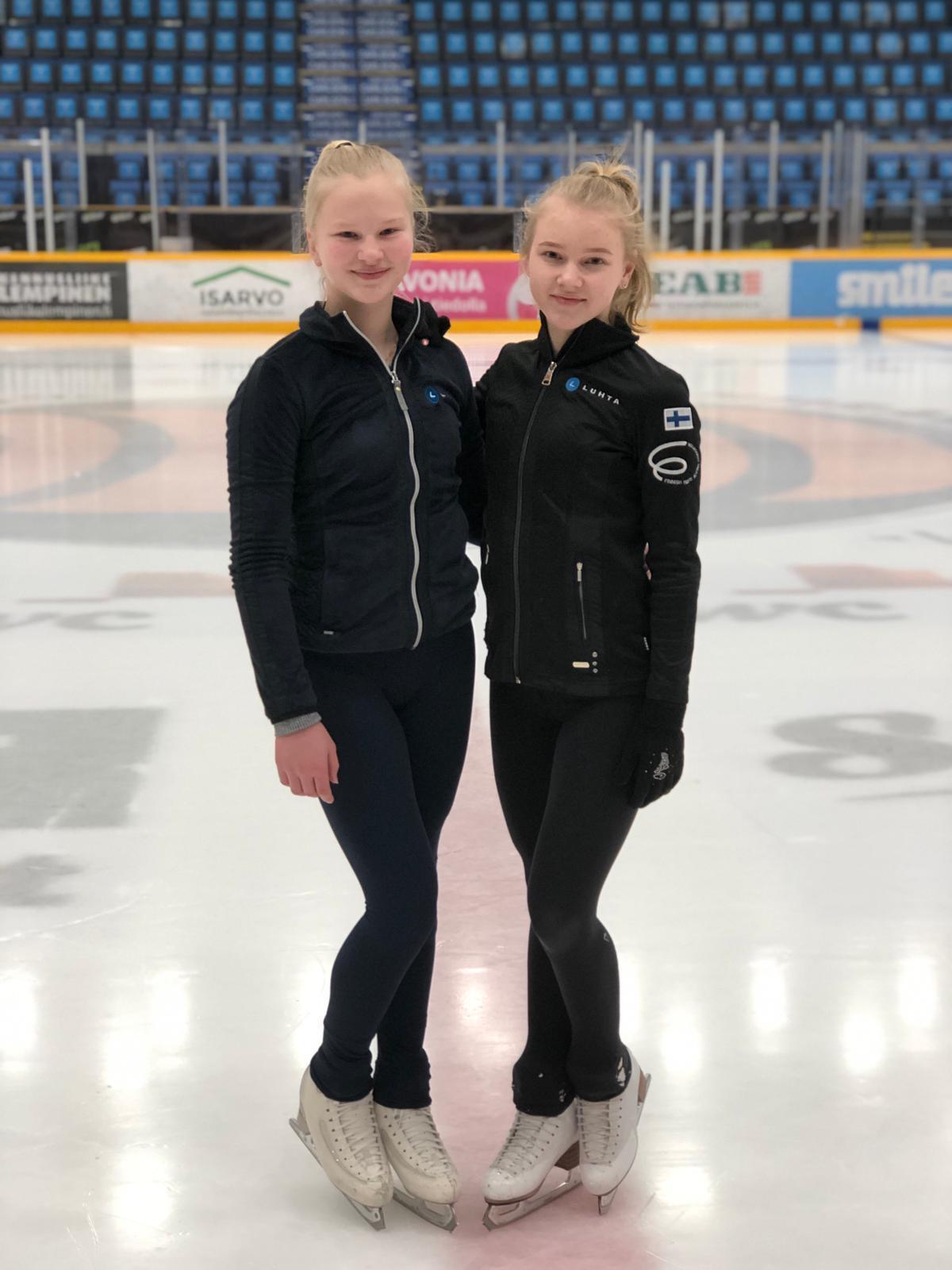 Janni Riekkinen (vas.) ja Olivia Hentunen