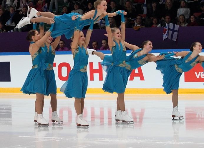 Salla Laukkanen vuoden 2011 MM-kotikisoissa Marigoldin riveissä.