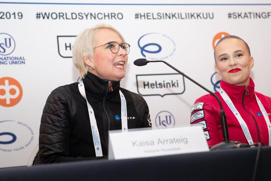 Helsinki Rockettesin valmentaja Kaisa Arrateig ja kapteeni Nona Vihma