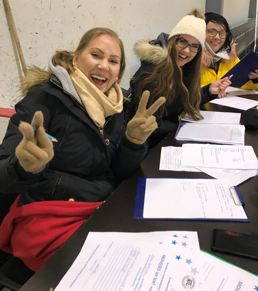 Mov(i)es on Ice -kilpailujen tuomaristoa johti Evelina Lorek.