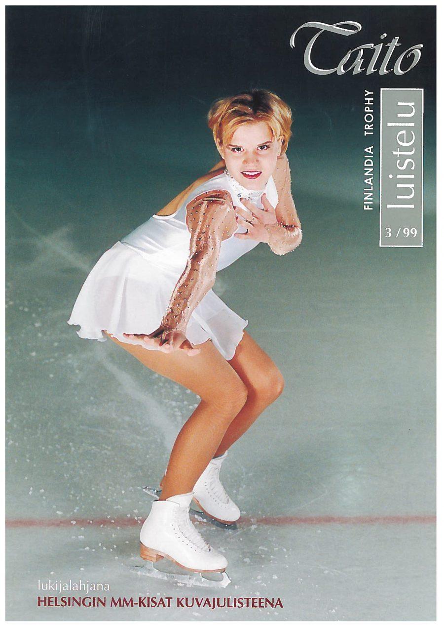 Taitoluistelulehden kansi vuodelta 1999, jolloin Kaisa Viitanen aloitti lehden päätoimittajana.