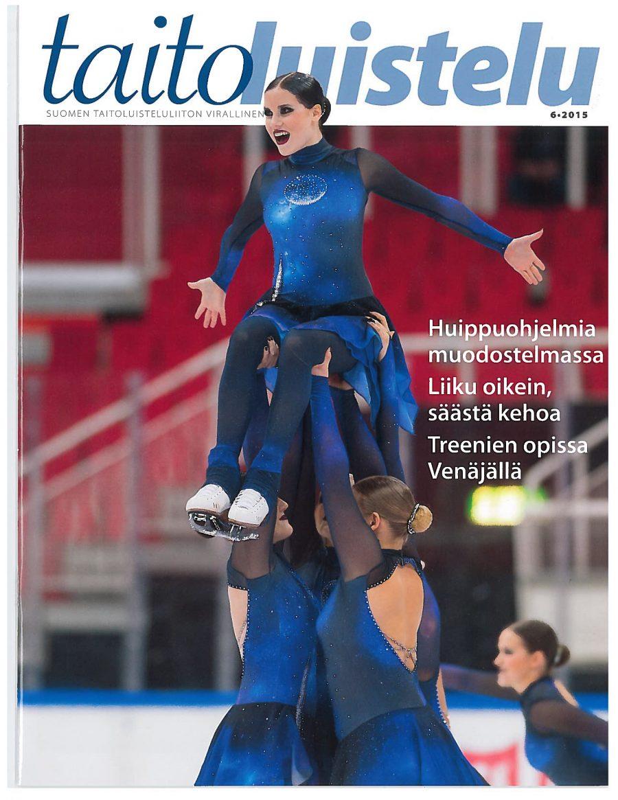 Taitoluistelu-lehden kannessa vuonna 2015 oli vuorossa muodostelmaluistelu ja Helsinki Rockettes.