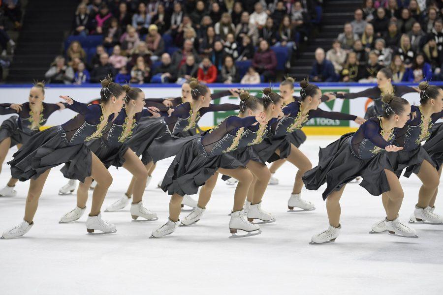 Dream Edges voitti junioreiden SM-hopeaa kauden parhailla pisteillään 197,38. Kuva Antti Lehto