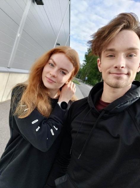 Arina Klinovitskaya ja Jussiville Partanen treenaavat kesän Suomessa. Viime kesänä jäätanssipari harjoitteli Ranskassa.