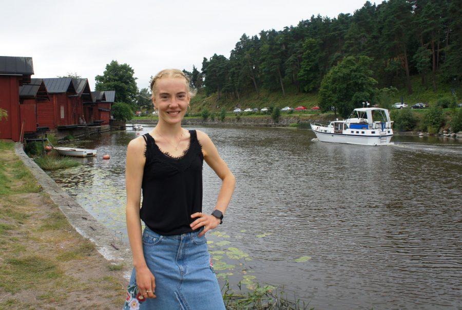 Vera Stolt nauttii saadessaan valmentautua idyllisessä kotikaupungissaan Porvoossa.