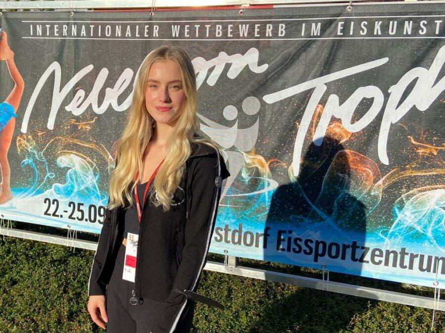 Oona Ounasvuori iloitsi Oberstdorfissa ISU:n MM-kisoihin asettamien pisterajojen saavuttamisesta.